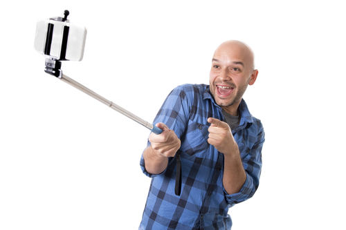 a much better use for the 39 selfie stick 39 the bald truth. Black Bedroom Furniture Sets. Home Design Ideas